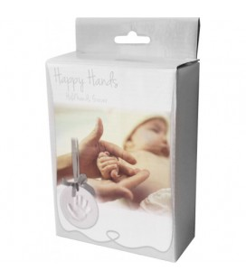 Happy Hands ornament kit silver ribbon HR-01