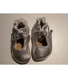 Zilveren baby slofjes -Melton