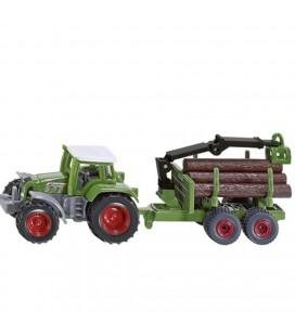 Siku traktor met  bosaanhanger