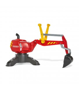 Graafmachine rood digger Rolly Toys
