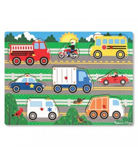 puzzel hout voertuigen