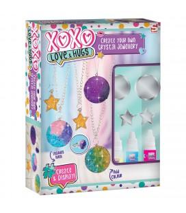 Xoxo groeiend kristal sieraden