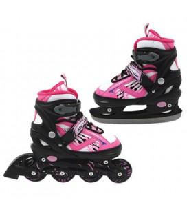 Inline skate / schaats roze 35 - 38 2 in 1 set