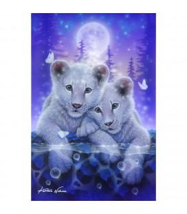 Crystal art diamond painting tijger welpen met frame