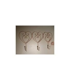 Roze harten - 3 haken