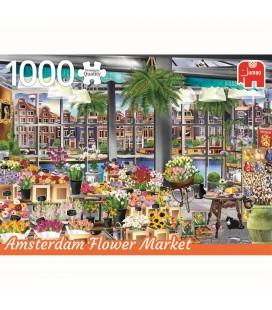 Jumbo puzzel Amsterdam flower market 1000 stukjes