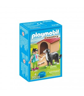 Playmobil kind met hond 70136