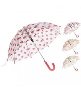 Paraplu dieren transparant 3 assorti