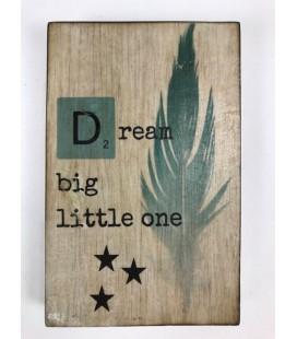Tekstblok 10x15 2 cm dik D Dream Jongen
