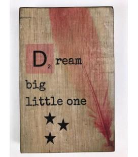 Tekstblok 10x15 2 cm diik D Dream meisje