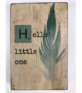 Tekstblok Hello little one 10x15 jongen