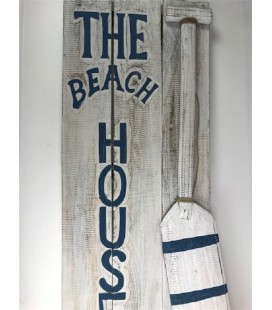 The Beach House 3D 40x100 cm Donker Blauw