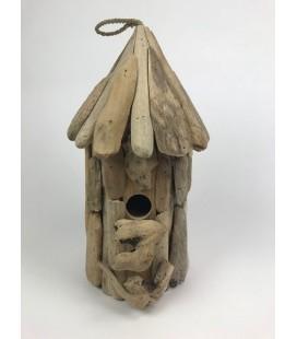 Vogelhuis drijfhout D 20 cm H 45 cm