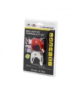 Dunlop fietsverlichtingset LED 2-delig incl. 2xCR2032 batterij