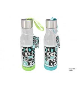 Drinkfles 'detox' groen/blauw