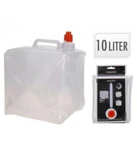 Watercontainer opvouwbaar 10ltr geschikt voor drinkwater met kraan en opvouwbaar
