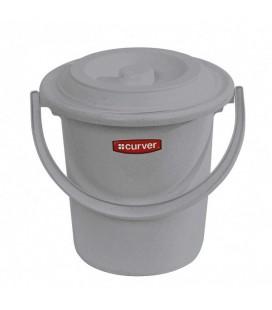 Curver Emmer + deksel grijs 5ltr toiletemmer/luieremmer