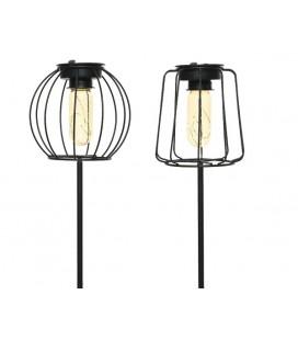 Lumineo LED solar lantaarn op steker Ø13cm