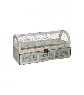 Kweekkast met peterselie, basilicum en tijm 30x12,5x15cm