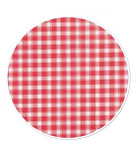 Wicotex Tafelkleed Ruit roodØ160cm
