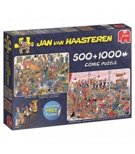 PUZZEL JAN VAN HAASTEREN FEESTJE! 500 EN 1000 STUKJES