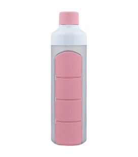 YOS Bottle Daily - Roze pillenfles