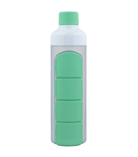 YOS Bottle Daily - Groen pillenfles