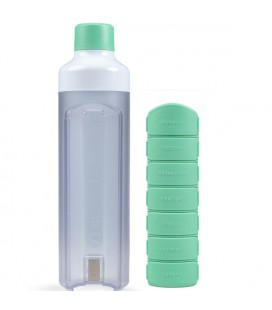 YOS Bottle Weekly - Groen pillenfles