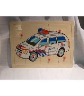 Politie auto knoppuzzel