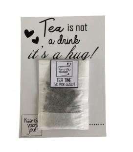 Theekaart Tea is a hug