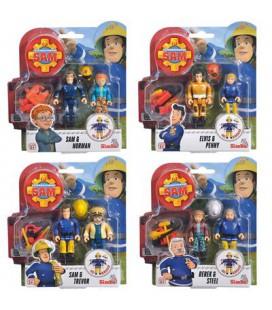 Brandweerman Sam figuren 2 pak 4 assorti