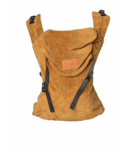 DRAAGZAK CLICK CARRIER CLASSIC • RIBBED VELVET MUSTARD BROWN