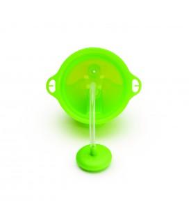 Munchkin Click Lock Tip en sip sippy straw cup /verzwaarde rietjes beker - blauw/groen 12 mnd