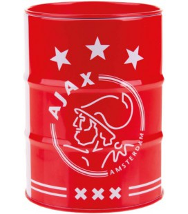 Spaarpot Ajax wit/rood blik