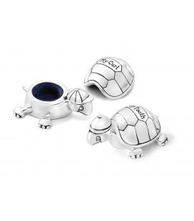 Tandendoos / haarlokdoos set schildpadjes verzilverd