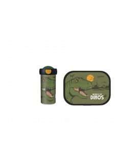 Lunchset Campus (schoolbeker + lunchbox) - Dino