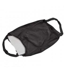 Zwart wasbaar mondkapje met filter