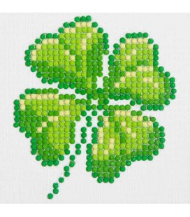 Four Leaf Clover Diamond Dotz: 10x10 cm