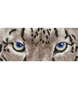 Snow Leopard Spy Diamond Dotz: 50x26 cm