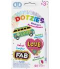 Stickerset Dotzies 3 stuks: Love 9x6 cm