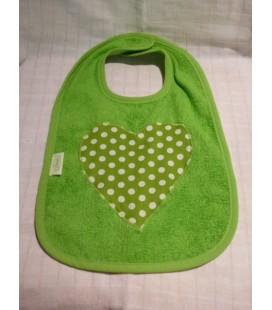 Groene slab met stippen hart
