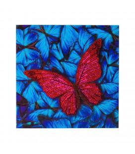 Crystal art kaart vlinder diamond painting