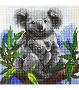 CRYSTAL ART KAART KOALA MET BABY diamond painting