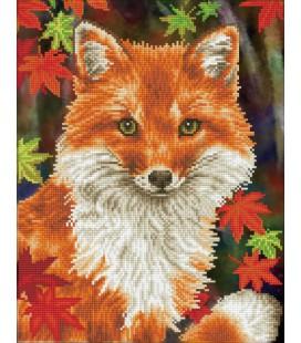 Diamond painting vos  / foxy diamond dotz 43 x 53 cm