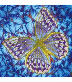 Vlinder diamond painting Flutterby silver  diamond dotz 30 x30 cm