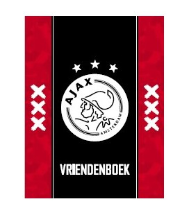 Vriendenboek Ajax rood met zwarte baan