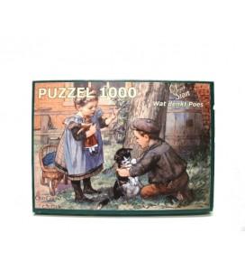 Ot en sien puzzel - Wat denkt poes 1000 stuks