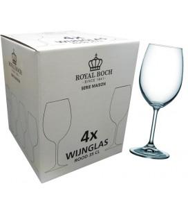 """Royal Boch rodewijnglas 35 cl """" Maison"""" ds a 4 stuks"""