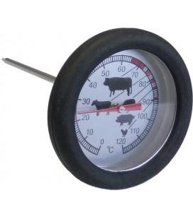 Vleesthermometer klokmaat 5,5cm lengte 12cm. met siliconenomhulsel