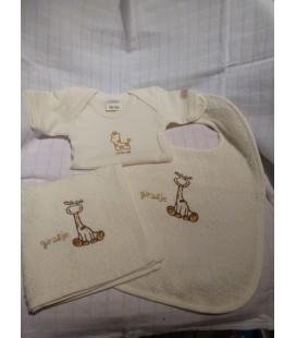 Neutraal pakketje bruin girafje